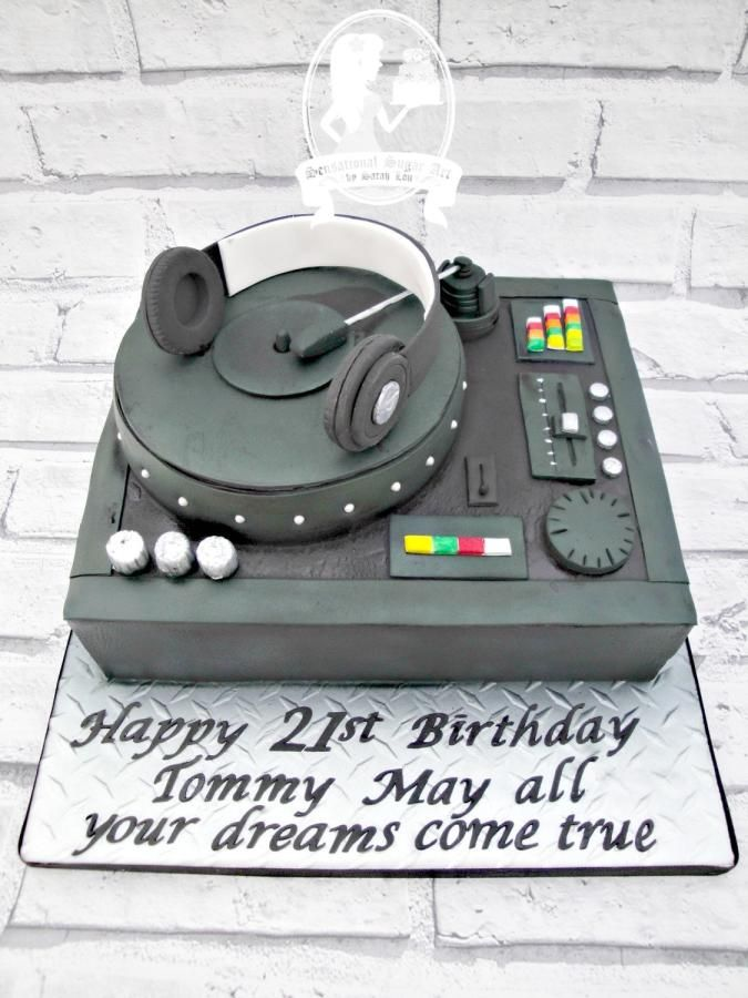 DJ Mixing Deck cake by Sensational Sugar Art by Sarah Lou