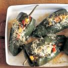 Try the Poblano Chilies Stuffed with Black Beans and Summer Squash Recipe on williams-sonoma.com/