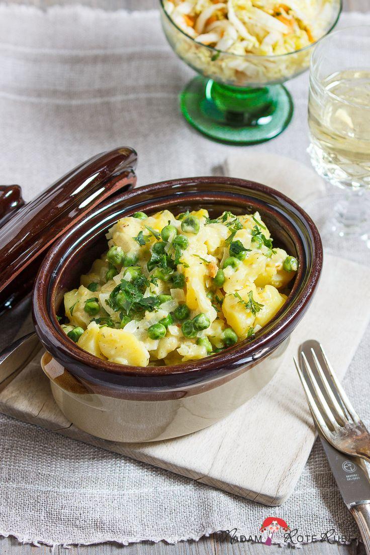 Kartoffeln in Zwiebel-Sahne-Sauce – Plattgeschmelzte aus der Pfalz