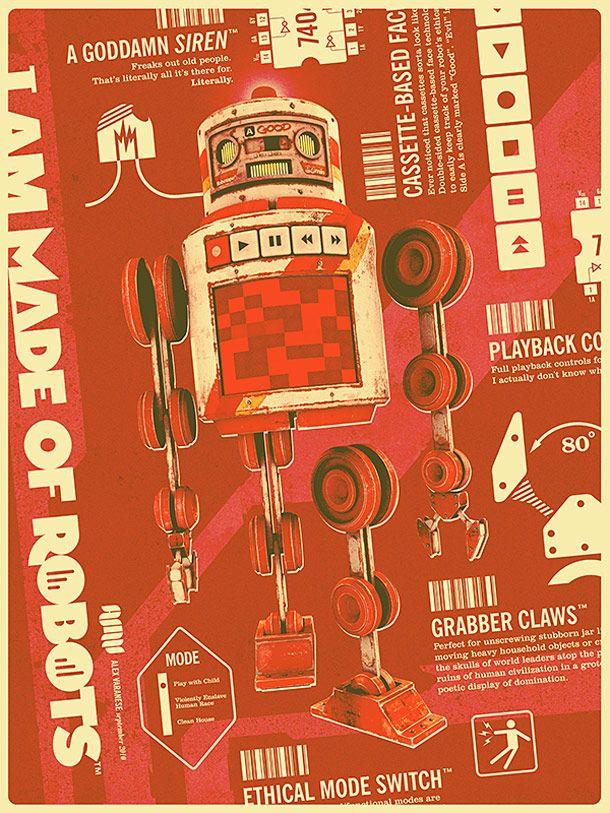 I am made of Robots – Les robots vintage d'Alex Varanese | Ufunk.net