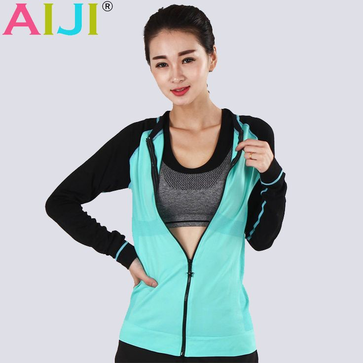 Summer autumn Women Sports jacket Fitness Long Sleeve Zipper Jacket Silm Coat Thumbhole For Women Yoga jackets Running shirts -- AliExpress Affiliate's buyable pin. Details on product can be viewed on www.aliexpress.com by clicking the VISIT button #Women'sjackets