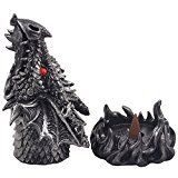 A magical fire-breathing dragon takes center stage in your castle's dungeon, emitting the aroma of your favorite incense. This mythical sculpture with metallic look finish that does double duty as a decorative incense cone burner, is certain ...
