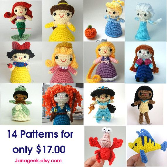 Amigurumi Fairy Tales Free : 17 Best images about Fairy Tale Princess Doll Crochet on ...