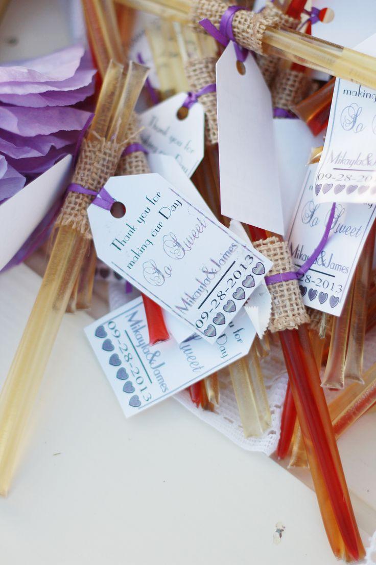 Honey Sticks For Wedding Favors