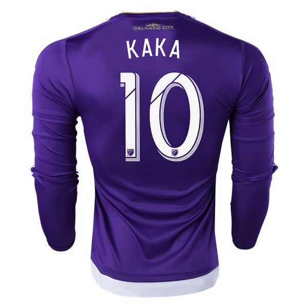 adidas Kaka Orlando City SC Long Sleeve Authentic Home Jersey 2015