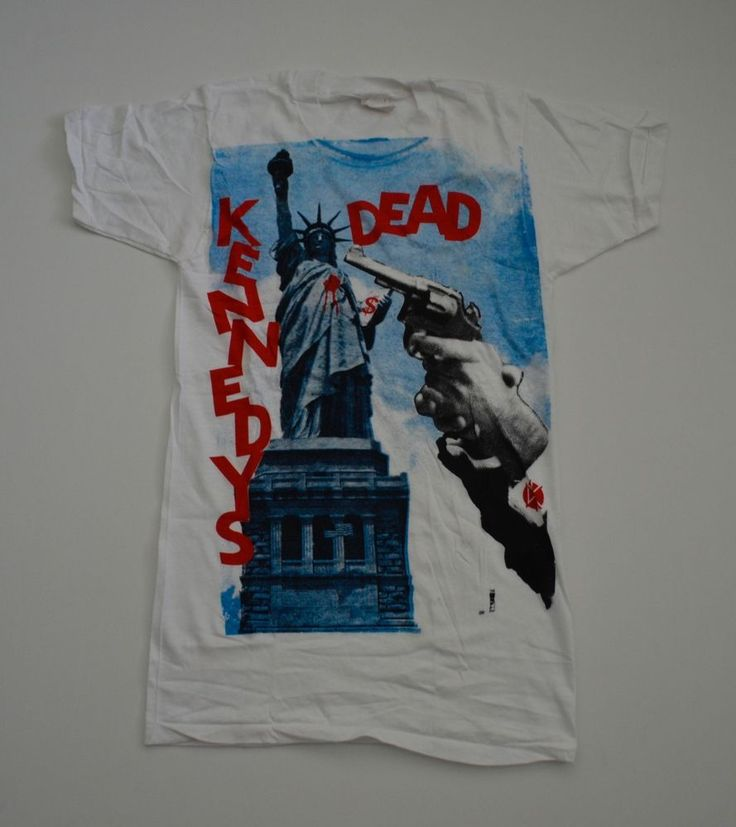 VINTAGE EXTREMELY RARE! DEADSTOCK 1980s FIFTH COLUMN DEAD KENNEDYS PUNK T-SHIRT #screenStars