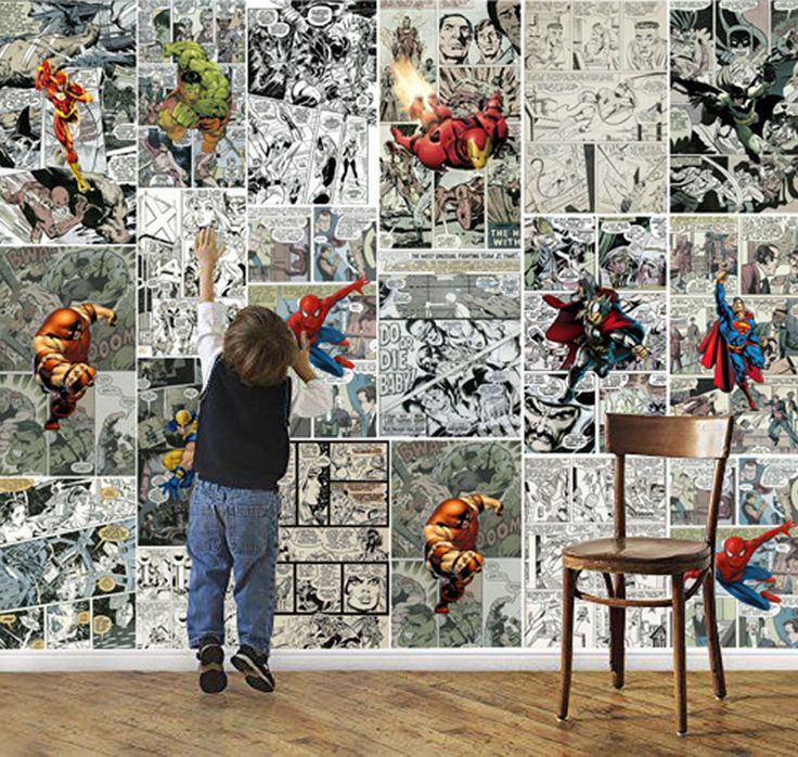 Marvel Comics Wallpaper 3d Wallpaper For Walls Mural Kids