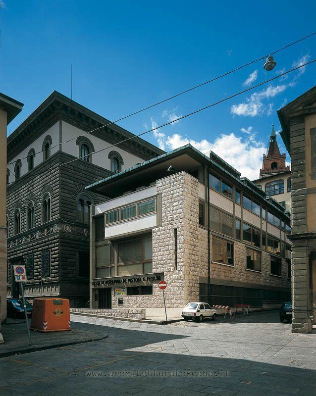 Cassa di Risparmio di Pistoia e Pescia 1961 - 1965 Pistoia (PT) Progetto: Giovanni Michelucci