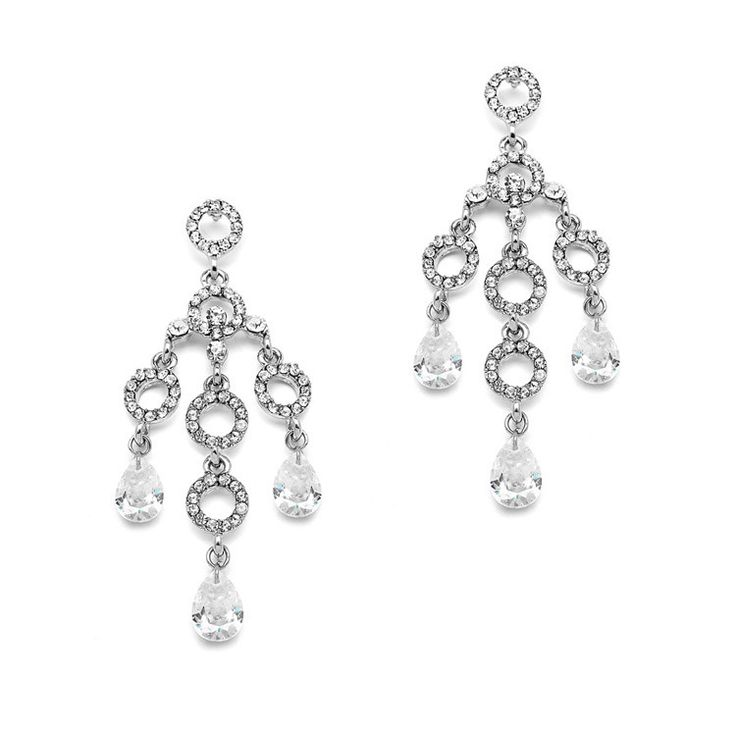 Vintage Bridal Chandelier Earrings with Pave Circles and Faceted Crystals – Roman & French Wedding accessories, bridal jewellery, wedding earrings, bridal earrings, wedding accessories, bridesmaids jewellery, bridesmaids earrings, bridesmaids gifts, pearl bridal jewellery, formal jewellery, bridal accessories, are a great