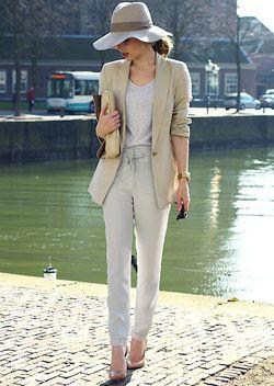 テーパードっぽいシルエットを選べばエレガントにも着こなせる♡夏のレディース スウェット ファッション着こなしの参考一覧です♡