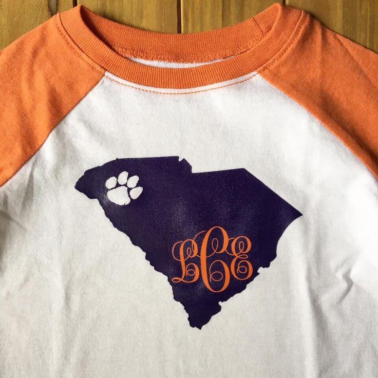State   College   Mascot   Logo   Monogram   Clemson   Football   Paw   Shirt   Onesie   Vinyl by MagnoliaMarsh on Etsy https://www.etsy.com/listing/458315352/state-college-mascot-logo-monogram