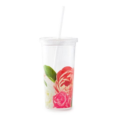 take your favorite iced beverage to go in the kate spade new york floral tumbler. built for cold beverages (only), this bpa-, phthalate-, and lead-free gem allows you to sip safely, in addition to bei