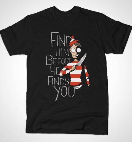 Hiding in the Dark T-Shirt - Where's Wally? T-Shirt is $12 today at Busted Tees!