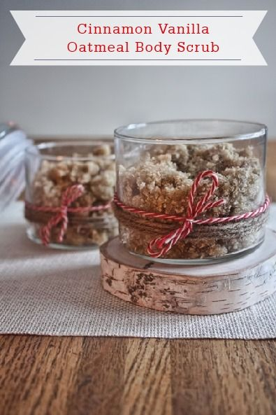 This DIY Homemade Cinnamon Vanilla Body Scrub will not only make skin look beautiful, but also smells like a wonderful, warm oatmeal cookie.