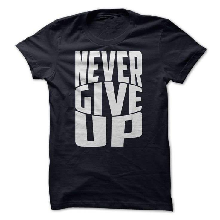 """Never give upThis is Motivational typography shirt design. """"NEVER GIVE UP""""Faith, give up, inspirational, tshirt, vector, typography"""
