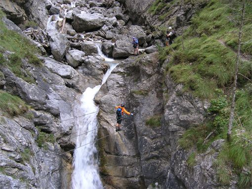 Ausstieg, Galitzenklamm - Klettersteig