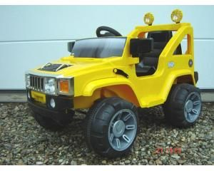 Accujeep A30 1-Persoons 6V Jeep Geel