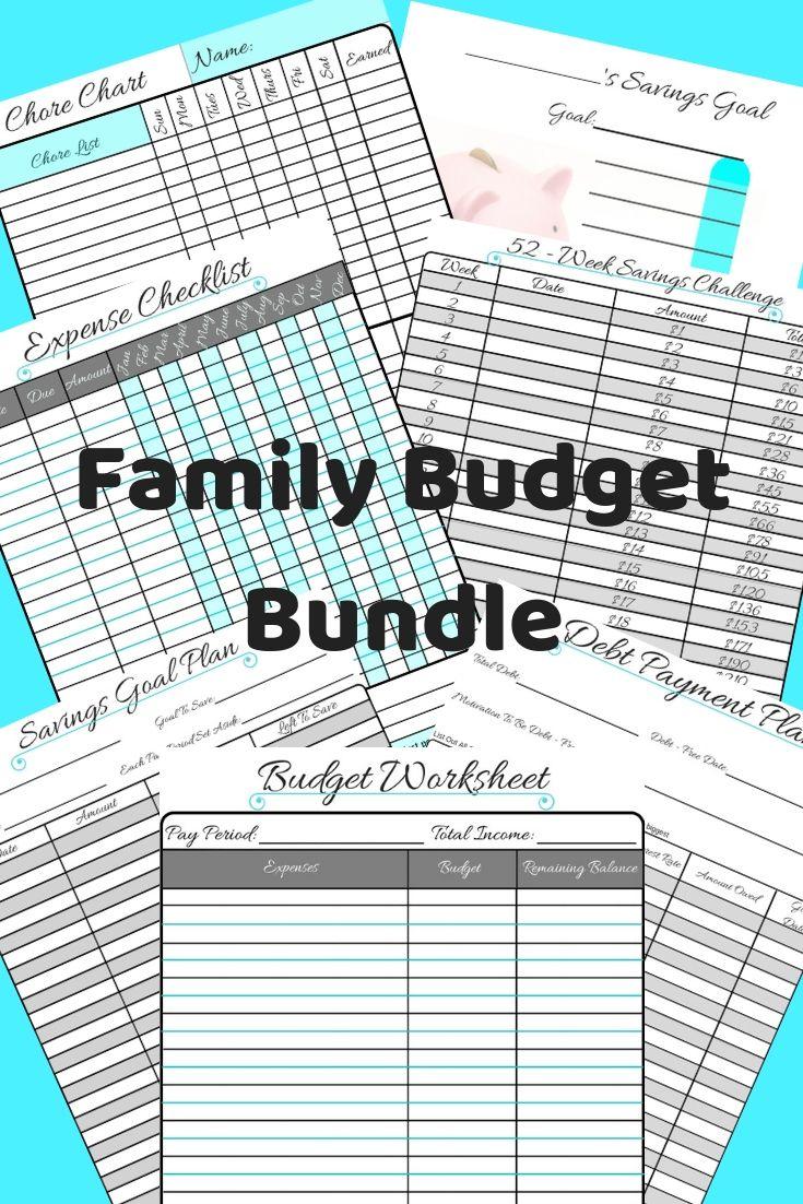Family Budget Printable Bundle Family Budget Budgeting