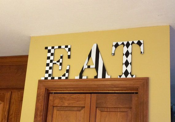 Best 25 painted wood letters ideas on pinterest for Furniture 5 letters