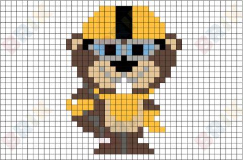 Sawtooth Pixel Art