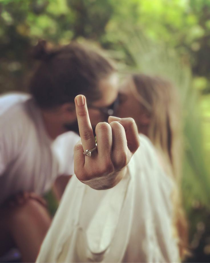 Margot Robbie with the most badass wedding announcement pic