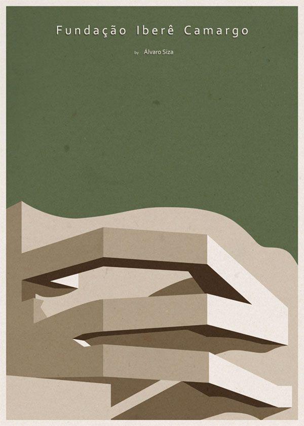 ARCHITECTURE - Brazil - Fundação Iberê Camargo - Poster Design by André Chiote