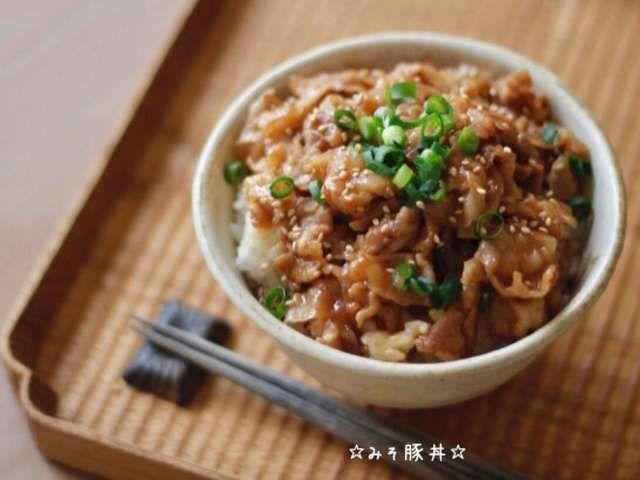 レシピ 豚肉 丼 豚丼のレシピ・作り方 【簡単人気ランキング】|楽天レシピ