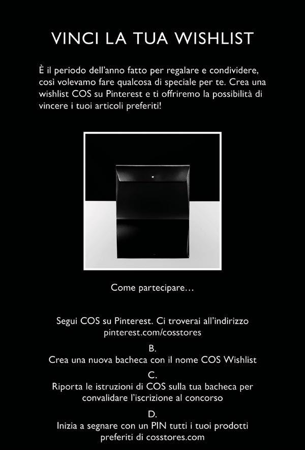 Vinci la tua COS wishlist
