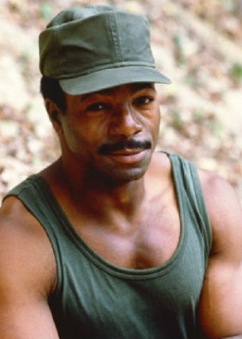 Carl Weathers in a still from the movie Predator.