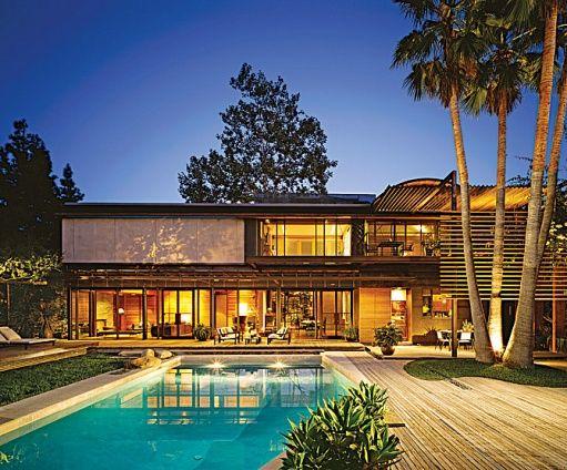 Demi Moore & Ashton Kutcher's home reno'd by Radziner, Interior by Brad Dunning