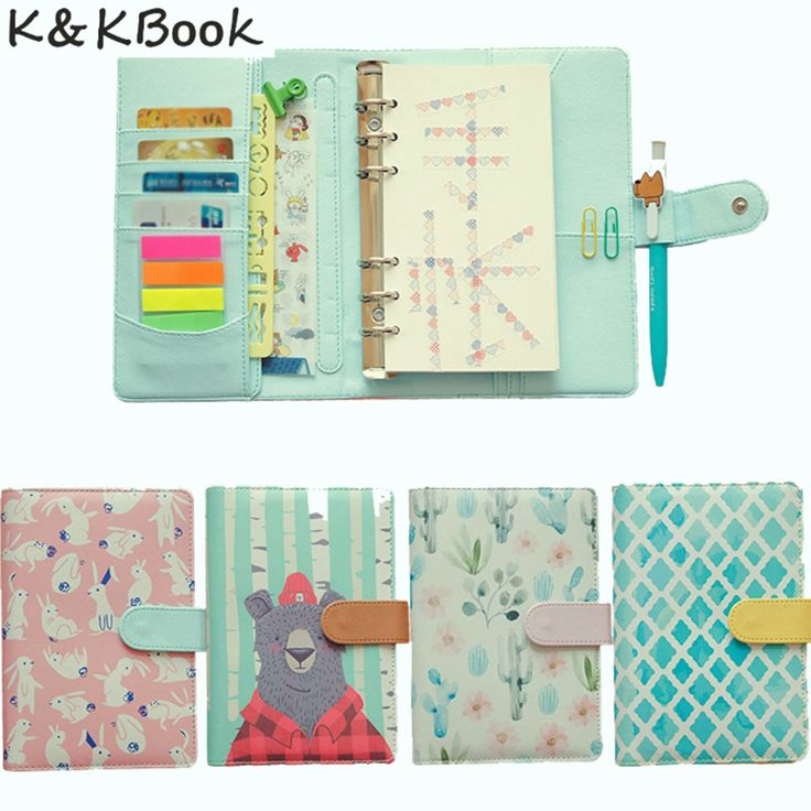 K&KBOOK KK008 Creative Leather Notebook A5 A6 Loose Leaf Spiral Notebook Diary Kawaii Notebooks and Jourals Cute Agenda Planner -in Notebooks from Office & School Supplies on Aliexpress.com   Alibaba Group