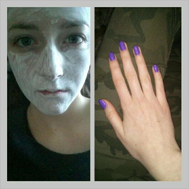 Face masks and mani-pedis!