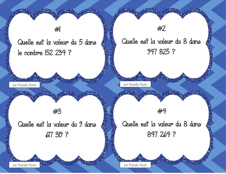 Cartes à tâches - Valeurs de position Créées par Rachelle Picard (2015)