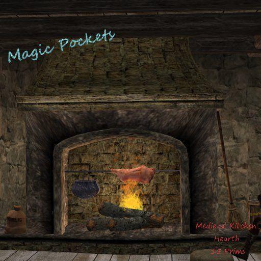 hearth medieval castle kitchen