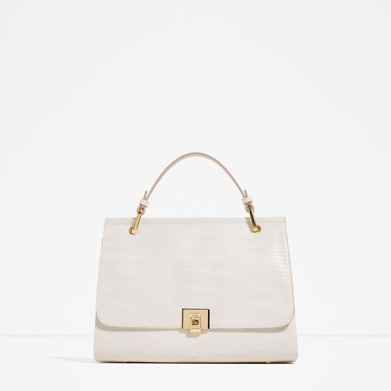 Image 1 of CITY BAG WITH FASTENING DETAIL from Zara