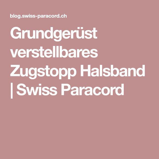 Grundgerüst verstellbares Zugstopp Halsband | Swiss Paracord
