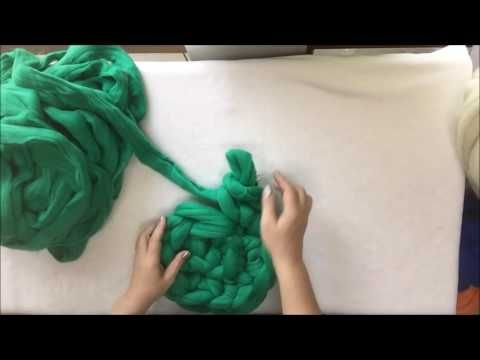 How to arm crochet a cat bed. BeCozi - YouTube