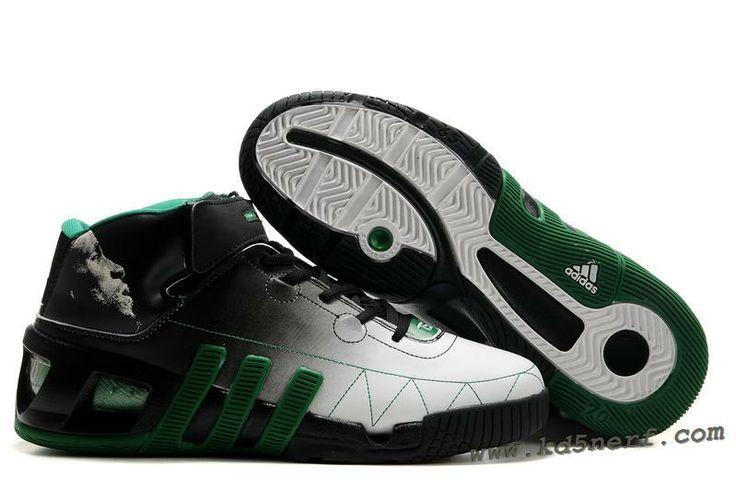 Adidas Kevin Garnett Shoes 6 Black White Green Discount