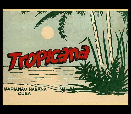 1949 souvenir photo folder, front cover  souvenir photo folder from Tropicana Night Club- Havana, Cuba