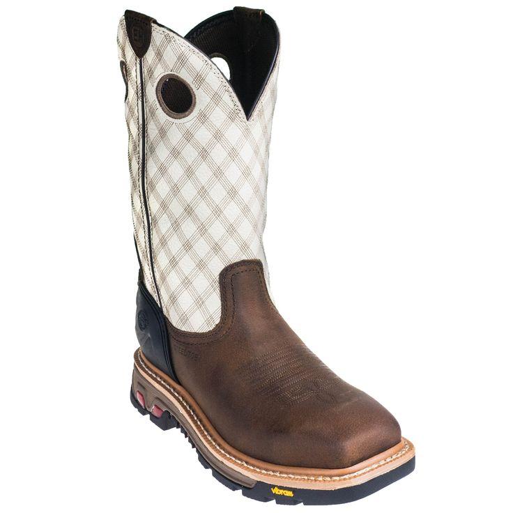 Justin Boots Men's WK2117 Tan Cedar Commander X5 Steel Toe EH Pull-On Work Boots