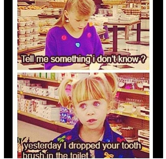 Don't watch this show but this is funny>>only pinning this bc who doesn't watch full house?!?
