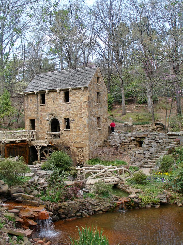 """Where part of the opening scenes of """"Gone with the Wind"""" was filmed.  The Old Mill, Little Rock, Arkansas #AETN #BeMore"""