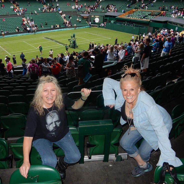 Nikki, Been and Walter White at Centre Court 😎 #Wimbledon