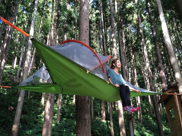 Suspended tent very cool way to go camping. http://online-super-store.net/tentsile-hammock-tent-review/