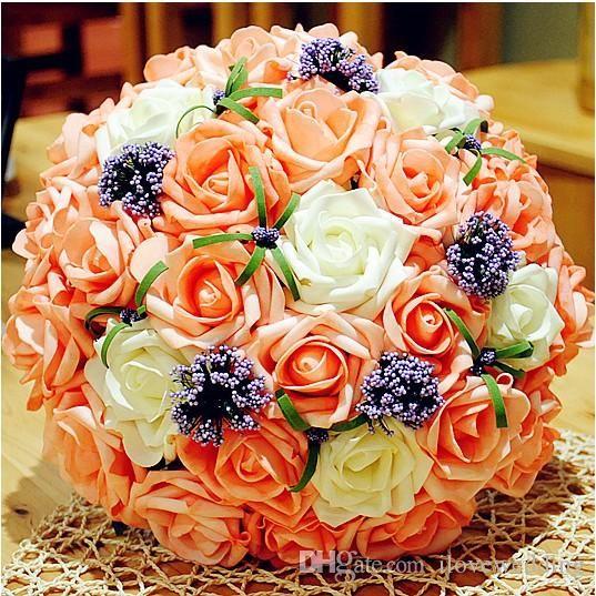 2015 Wedding Bridal Bouquet Decorations Perfect Fashion Wedding Favors Hand Holding Flower 2016 Vestido De Novia Cheap Flowers Online Delivery Flowers From Ilovewedding, $13.62  Dhgate.Com