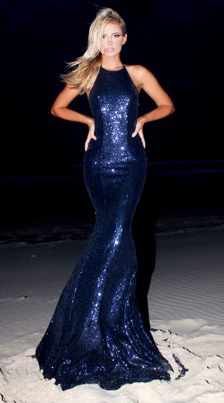 Midnight Crystal backless prom/ formal dress by STUDIO MINC
