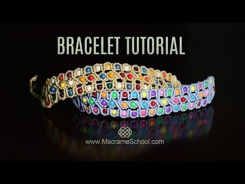 Celtic Inspired Beaded Macramé Bracelet Tutorial - YouTube