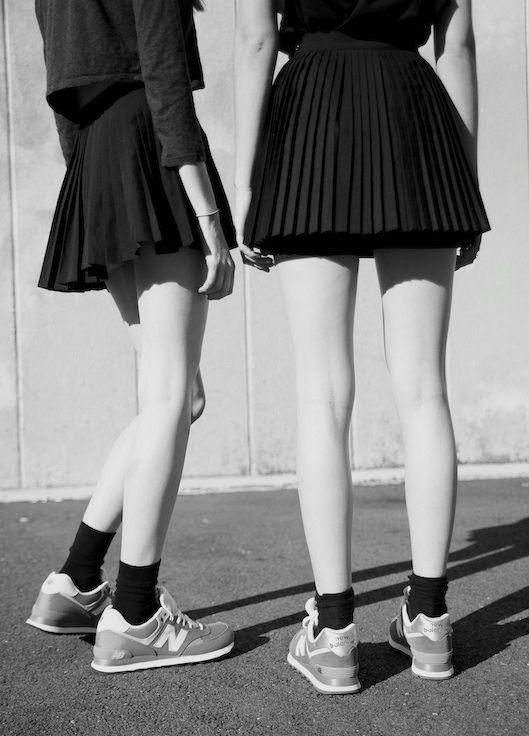 skirts + new balance