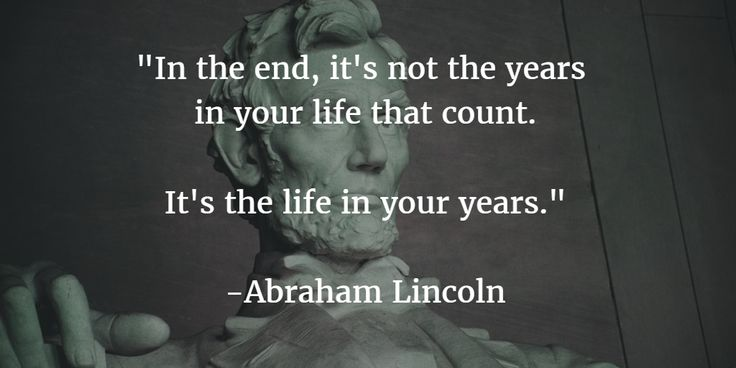 A pinch of wisdom from Abraham Lincoln.