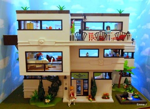 Art deco style 5574 house playmobil collectors club the work of emmaj playmobil for Moderne badkamer deco ideeen